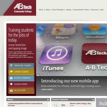 A-B Tech website screenshot
