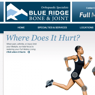 Blue Ridge Bone & Joint website screenshot
