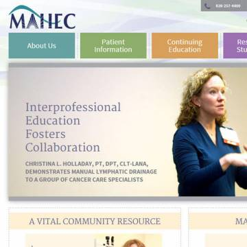 MAHEC website screenshot